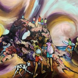 Acrylic & Charcoal on Canvas 700 x 900