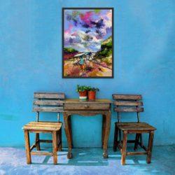 Acrylic & Charcoal on Canvas 700 x 500